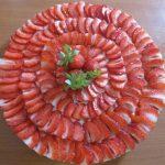 Tarte fine aux fraises façon cheesecake