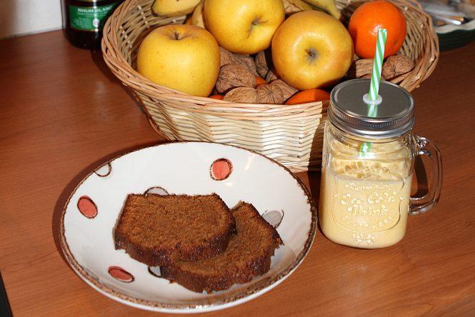 Milkshake et cake aux carambars