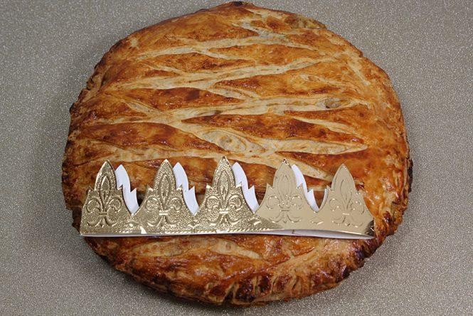 Galette des rois aux poires et aux amandes